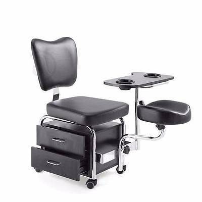 Pedicure Station Wheels Chair & Massage Foot Spa Beauty Salon Equipment Tray NEW