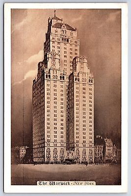 The Martinique Hotel New York City Postcard Street View Cars Trolley
