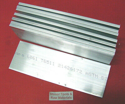 "8 Pieces 1/8"" X 4"" ALUMINUM FLAT BAR 12"" long 6061 T6511 .125"" New Mill Stock"