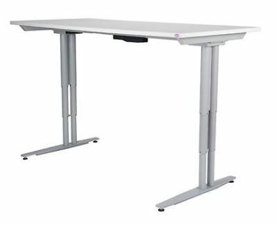 Arise Act 2 Sit Stand Electric Desk in Beech, White