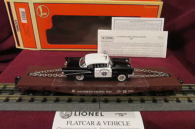 NEW Lionel 6-26906 SOUTHERN PACIFIC Flatcar with CORGI '57 CHEVY POLICE CAR