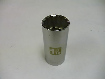 """Craftsman 1/2"""" Drive Laser Etched Deep Sockets Metric & STD 12 Point Made in USA"""