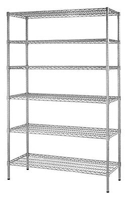 "Muscle Rack WS481872-Z Steel Shelving Unit 6 Shelf 48"" Width 72"" Height 18"" Zinc"