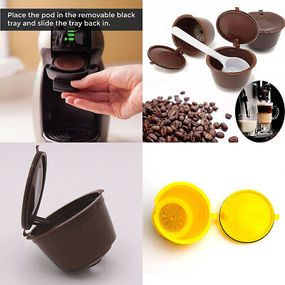 Refillable Nespresso Dolce Gusto Capsule Reusable Pod Coffee Cup Holder AU