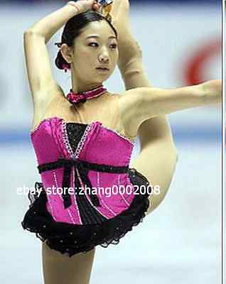 Lovely Ice Skating Dress.Competition Figure Skating dress.Pink Twirling custom