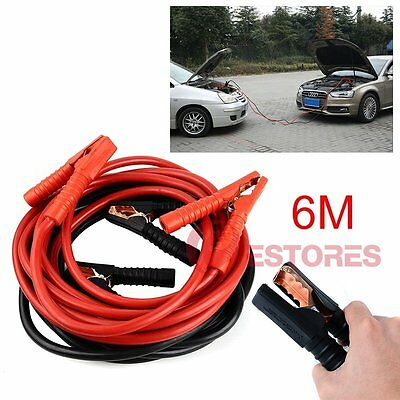 6M Heavy Duty 1500AMP Jumper Leads Battery Start Starter Booster Cable Car Truck