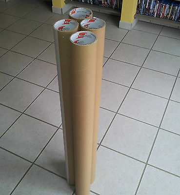 4 stabile Papprollen ca. 100cm lang Röhre Pappe Bastelrolle Rolle Rohr Pappröhre
