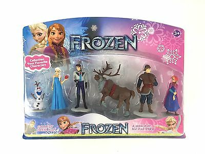 6 Pieces Frozen Anna Elsa Olaf Figurine Figure Play Set Cake Topper