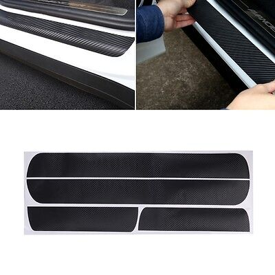 Car Door Scuff Sill Plates Step Plate Protector Carbon Sticker For Chevrolet 4Pc