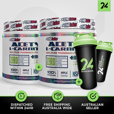 2 X ALCAR by EHP LABS | Acetyl L-Carnitine Fat Burner Weight Loss | Free GIFT!