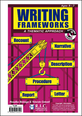 NEW Writing Frameworks - Ages 5-7 by R.I.C. Publications