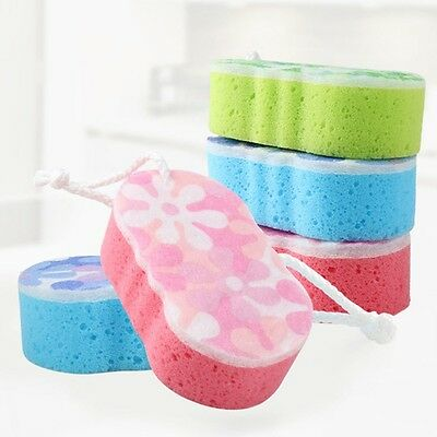Bath Massage Multi Sponge Shower Exfoliating Body Cleaning Scrubber Cleaning