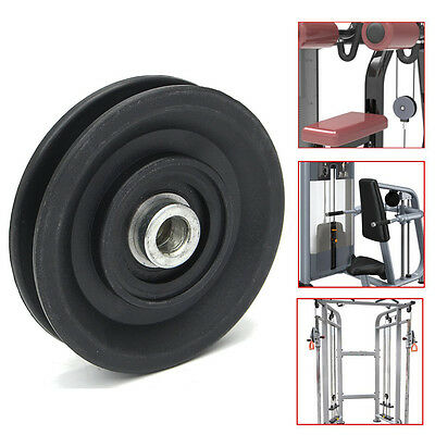 """3.5""""/90MM Nylon Bearing Pulley Wheel Cable Gym Fitness Equipment Part Universal"""