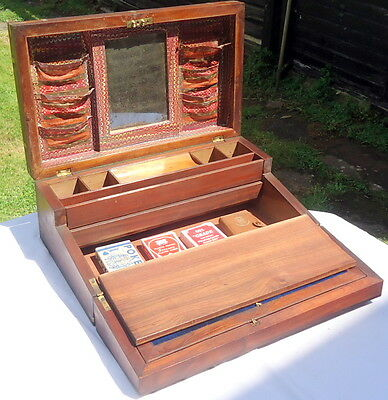 REGENCY. Travelling Writing Slope with Secret Drawers & Contents. C1790 - 1830.