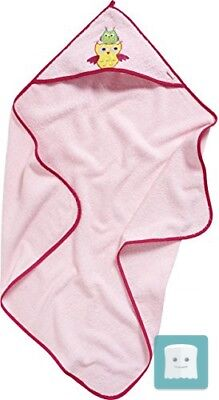 Playshoes Frottee-Kapuzentuch Eule, Accappatoio Bambina, Rosa (Rosa)
