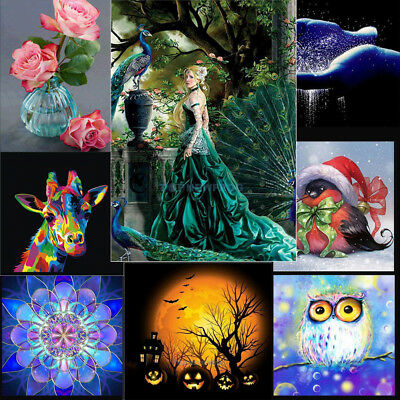 5D DIY Diamond Painting Embroidery Cross Stitch Kits Home Wall Decoration Owl