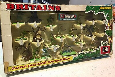 Britains Boxed U S And Japanese  Infantry No.7358 1970's Made In England