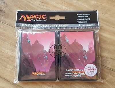 Ultra Pro Deck Protector Sleeves - 80 pack - Mountain Red - MTG - TCG - Magic
