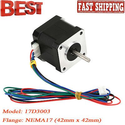 Nema 17 Stepper Motor Bipolar 84oz.in  (59Ncm) CNC/3D Printer Reprap Robot US EW