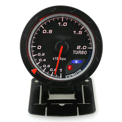 Universal 60mm LED Turbo Boost Meter Gauge für Racing Auto- Rot LED Licht