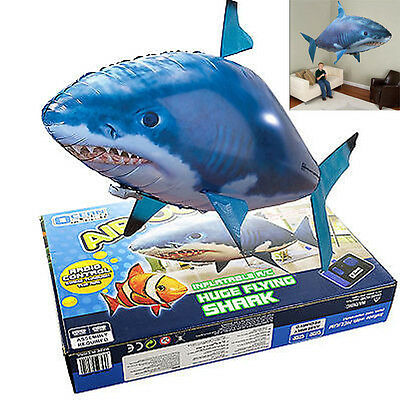 AU Remote Control Air Swimmer RC Flying Inflatable Fish Shark TOY Blimp Balloon