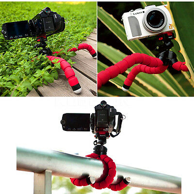 Universal Mini Flexible Octopus Tripod Mount + Phone Holder For Mobiles/Camera