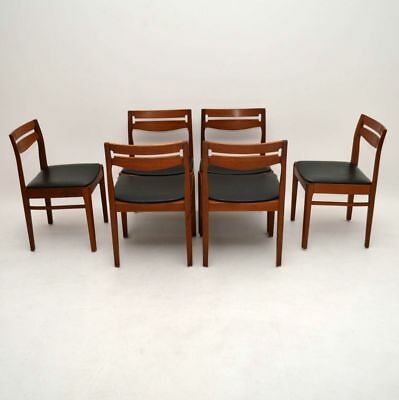 SET OF 6 DANISH TEAK RETRO DINING CHAIRS VINTAGE 1960's