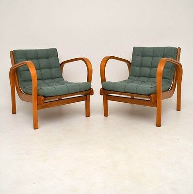PAIR OF RETRO SWEDISH ARMCHAIRS VINTAGE 1950's