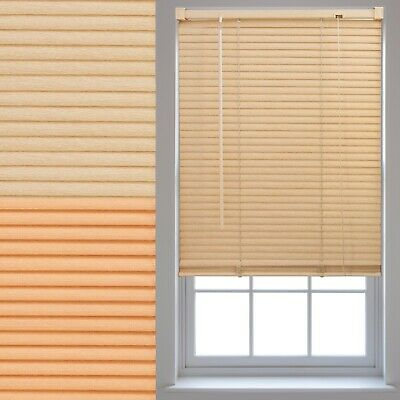 Wood Effect PVC Venetian Window Blinds Trimmable Home Office Blind New
