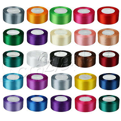 "1 Roll 25 Yards Satin Ribbon Craft 1.5"" 38mm Wide Bow Wedding Party Supplies Hot"