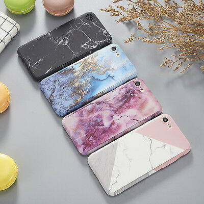 Hybrid 360°Shockproof Art Glossy Marble Case Cover For Apple iPhone X 7 8 Plus 6