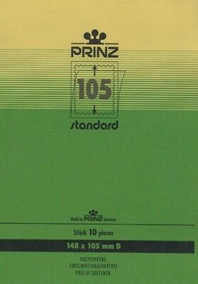 Prinz Stamp mounts blocks clear backed per 10 - size (w x h) 148 x 105mm
