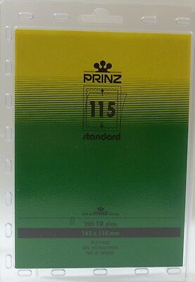 Prinz Stamp mounts Blocks 162mm x 115mm clear backed per pack of 10