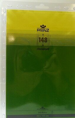 Prinz Stamp mounts Blocks 210mm x 148mm clear backed per pack of 6