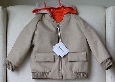 Baby Dior Taupe Wool Blend Jacket 18 Months