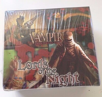 VTES Lords of the Night LotN Booster Box 36 packs SEALED Jyhad Vampire