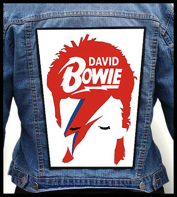DAVID BOWIE  --- Giant Backpatch Back Patch / George Michael Prince Iggy Pop