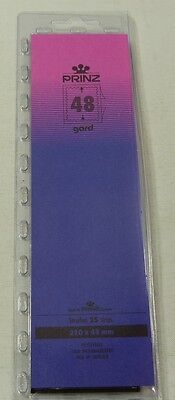 Prinz Gard Stamp mounts CLEAR backed strips per 25 - size 48mm high