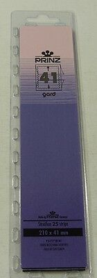 Prinz Gard Stamp mounts CLEAR backed strips per 25 - size 41mm high