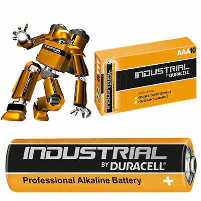10 Duracell Procell Industrial Aaa Alkaline Batteries Lr03, Mn2400 Exp.2022