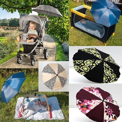 Baby Pram Pushchair Sun Rain Parasol / Umbrella Lovely Colours Clearance Sale