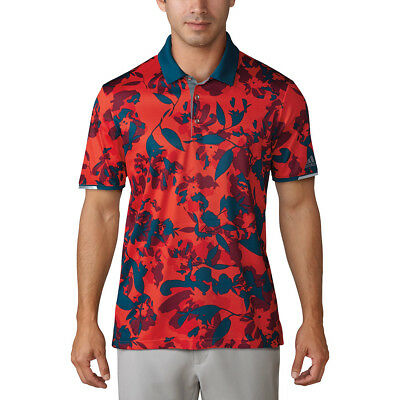Adidas Climachill Floral Polo Core Red M - SAMPLE