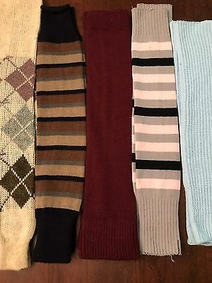 Vtg 80's Leg Warmers Lot Of 5 Pairs