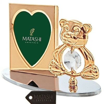 Matashi 24K Gold Plated Adorable Teddy Bear Picture Frame