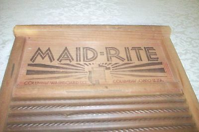 VINTAGE EXTRA LARGE MAID-RITE  - Columbus, Ohio ALL WOOD GREAT COND CIRCA 1940'S