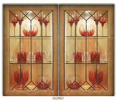 Custom Glass kitchen door inserts for New & existing cabinets