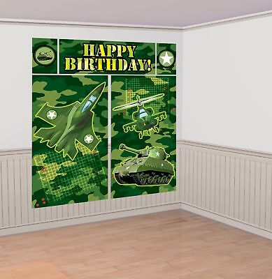 New Camouflage Scene Setters Wall Decorating /5