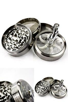 Heavy Duty Weed Marijuana Herb Spice Tobacco Grinder with Mill Handle Crusher