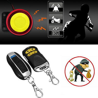 Remote Control 12V Anti-theft Motorcycle Bike Scooter Car Security Alarm System
