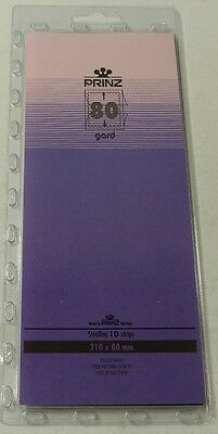 Prinz Gard Stamp mounts CLEAR backed strips per 10 - size 80mm high